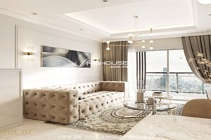Neoclassical apartment for rent in Phu My Hung with beautiful view