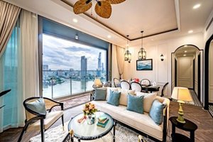 Luxurious 3 bedroom for rent in Tilia Residences - Empire City with full river view