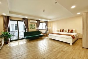 Nice serviced apartment for rent in Phu My Hung with kitchen and balcony