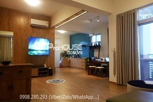 Nice penthouse for rent in Phu My Hung with wooden floor and beautiful view