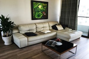 White color furniture apartment for rent in Panorama with river view