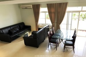 Unfurnished apartment for rent in My Tu with swimming pool and large garden – Near SSIS