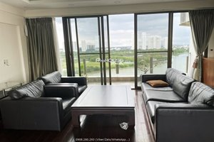 5 bedroom penthouse for rent in Phu My Hung center with amazing view to the river