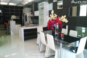 BIG SIZE: A big size villa for rent in Phu My Hung, modern furniture, large kitchen, modern living room and large garden