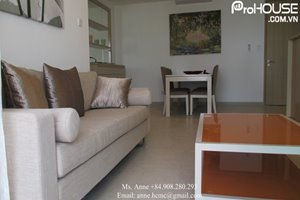 Good rental: Beautiful 2 bedroom plus working room apartment for rent in District 7, fully furnished, built-in oven
