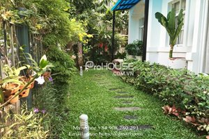 Large garden villa for rent in Hung Thai Compound with 2 stories and full furniture