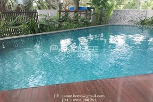 Villa for rent with swimming pool in Phu My Hung, nice furniture, big garden, beautiful neighbor