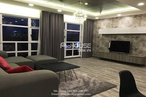 Luxury apartment for rent in Happy Valley, black and white color, nice view, 115 sqm