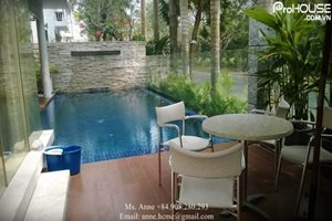SWIMMING POOL: Villa for rent in Nam Thong, large swimming pool, modern furniture, great view and good neighbor