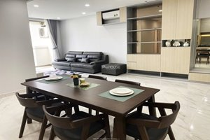 Western style 3 bedroom apartment in Midtown for rent with full furniture on high floor