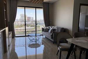 Flat for rent in district 7 with Western style of furniture on high floor