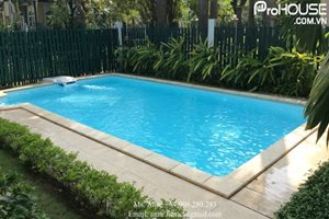 Villa for rent in Phu My Hung with private swimming pool, modern design, large garden