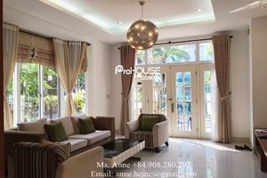 5 bedroom villa for rent in My Thai, Phu My Hung, fully furnished, big garden, safe area