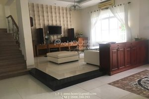Beautiful villa for rent in Nam Thong, Phu My Hung, close to CIS (Canadian International School), 5 bedrooms