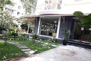 Villa for rent in District 7 with large garden and full furniture