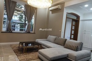 Newly renovated villa for rent in Phu My Hung, beautiful design, safe location