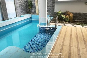 Luxury villa for rent near Nguyen Duc Canh street, modern furniture, big garden and nice swimming pool