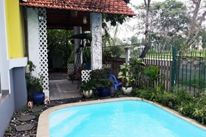Low rental villa for rent in Phu My Hung having swimming pool and large garden