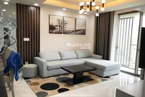 Cheap 3 bedroom apartment for rent in Happy Residence with beautiful furniture