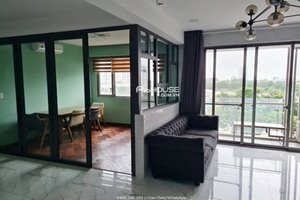 Beautiful 3 room apartment in Hung Phuc Happy Residence for rent with low price
