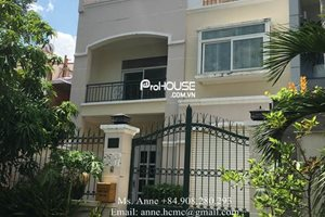 Villa for rent in Phu My Hung, peaceful area, big garden, safe and clean neighbor