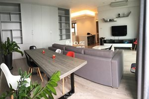 Water front apartment for rent in District 7, large balcony, nice and modern furniture