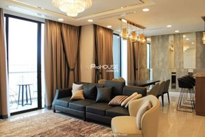 Penthouse Vinhomes Golden River for rent, luxury furniture, 4 bedrooms, river view