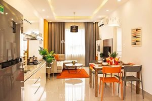 Modern 3 bedroom apartment for rent in Central 1, Vinhomes Central Park, beautiful furniture