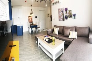 Beautiful semi-classical apartment for rent in Phu My Hung, high quality furniture
