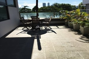 Big garden apartment for rent in Panorama Phu My Hung on the 3rd floor