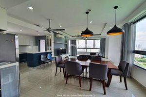 3 bedroom apartment in Green View for rent with golf view and modern furniture