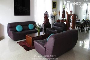 MODERN AND HIGH QUALITY: A luxury single villa for rent in Nam Thong, Phu My Hung, 4 bedrooms, fully furnished