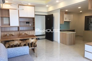 Partly furnished 3 bedroom apartment in District 7 for rent nice view to the river