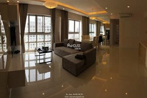 Spacious apartment for rent in Happy Valley, Phu My Hung, full luxurious furniture,high floor, 3brs