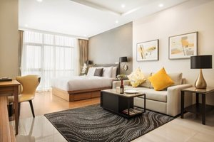 Luxurious studio apartment for rent in District 7 with full-equipped furniture and home appliances