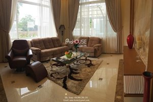 Luxury single villa for rent in Phu My Hung center, 4 bedroom, beautiful design, brand new furniture