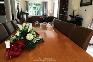 Luxurious single villa for rent in Hillview District, near SSIS Phu My Hung, clean and modern villa